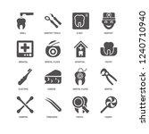 candy  dental floss  drill ...   Shutterstock .eps vector #1240710940