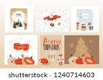 hand drawn vector abstract fun... | Shutterstock .eps vector #1240714603