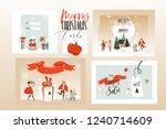 hand drawn vector abstract fun... | Shutterstock .eps vector #1240714609