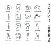 toothpaste tube  tweezers ... | Shutterstock .eps vector #1240717576