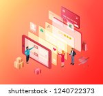 vector isometric composition... | Shutterstock .eps vector #1240722373