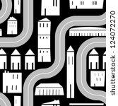 City Road Travel Vector Pattern