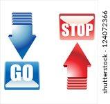 go stop buttons | Shutterstock .eps vector #124072366