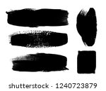 grunge paint stripe . vector... | Shutterstock .eps vector #1240723879