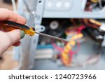 disassembly of system block of... | Shutterstock . vector #1240723966