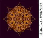 sacred geometry. drawn orange...   Shutterstock .eps vector #1240729129