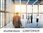 business people walking in... | Shutterstock . vector #1240729429