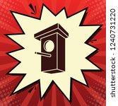 birdhouse sign illustration.... | Shutterstock .eps vector #1240731220