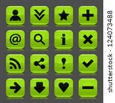 16 green icon with basic web... | Shutterstock .eps vector #124073488