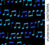simple blue music notes on... | Shutterstock .eps vector #1240736596
