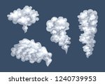 billowing smoke isolated. set... | Shutterstock .eps vector #1240739953