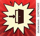 door exit sign. vector. dark... | Shutterstock .eps vector #1240742683