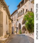 a picturesque sight in assisi.... | Shutterstock . vector #1240744186