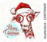 A Hipster Christmas Giraffe....