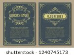 set of decorative vintage... | Shutterstock .eps vector #1240745173