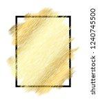 gold metall texture  black... | Shutterstock .eps vector #1240745500
