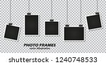 set of photo frames with... | Shutterstock .eps vector #1240748533