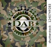 dab on camouflage texture | Shutterstock .eps vector #1240749283