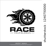 race wheel icon  race logo... | Shutterstock .eps vector #1240750000