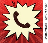 phone sign illustration. vector.... | Shutterstock .eps vector #1240755730