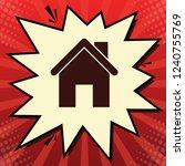home silhouette illustration.... | Shutterstock .eps vector #1240755769