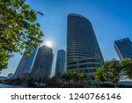 low angle view of skyscrapers... | Shutterstock . vector #1240766146