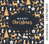 christmas greeting design with... | Shutterstock .eps vector #1240768153