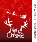 christmas greeting card. merry... | Shutterstock .eps vector #1240775959