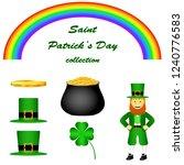 saint patrick's day set. goblin ... | Shutterstock .eps vector #1240776583