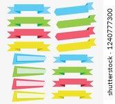 flat vector ribbons banners...   Shutterstock .eps vector #1240777300