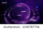 big data sphere visualization... | Shutterstock . vector #1240787746