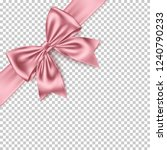 realistic pink gift bow and... | Shutterstock .eps vector #1240790233