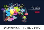 burst and spray are on sale on... | Shutterstock .eps vector #1240791499