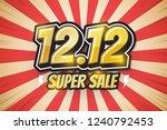 12.12 super sale  font retro... | Shutterstock .eps vector #1240792453