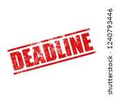 deadline stamp grunge | Shutterstock .eps vector #1240793446