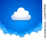 blue sky clouds | Shutterstock .eps vector #124079509