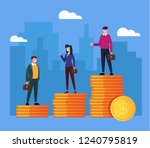 business people office workers... | Shutterstock .eps vector #1240795819