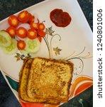 breakfast in morning.french... | Shutterstock . vector #1240801006