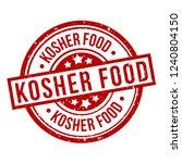 kosher food round red grunge... | Shutterstock .eps vector #1240804150