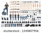 cracksman  burglar or safe... | Shutterstock .eps vector #1240807906