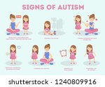 autism signs infographic for...   Shutterstock .eps vector #1240809916