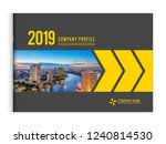 cover design for annual report... | Shutterstock .eps vector #1240814530