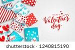 saint valentine's day... | Shutterstock .eps vector #1240815190