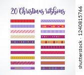 twenty christmas seamless... | Shutterstock .eps vector #1240815766
