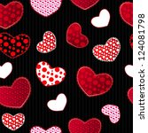 red and black love valentin's... | Shutterstock .eps vector #124081798