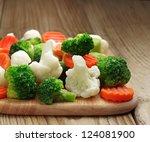 Different Vegetables Frozen On...
