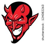 devil head mascot | Shutterstock .eps vector #124082263