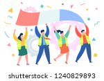 concept of protest.... | Shutterstock .eps vector #1240829893