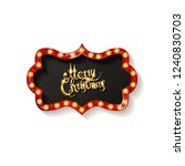 invitation merry christmas... | Shutterstock . vector #1240830703