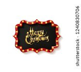invitation merry christmas... | Shutterstock . vector #1240830706